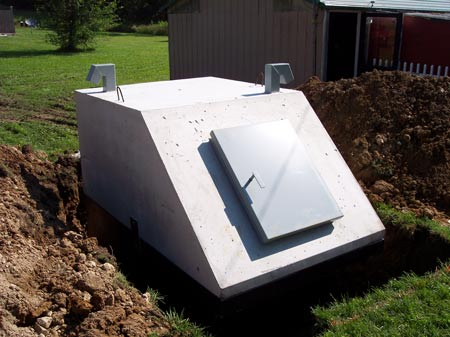 storm shelter in process